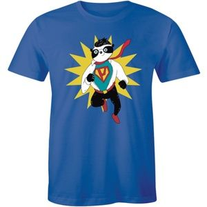 Cute Hello Panda Design Cartoon Superhero T-shirt